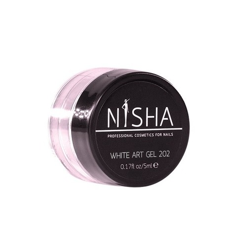 Гель-краска с липким слоем Nisha White Art Gel 5ml 202
