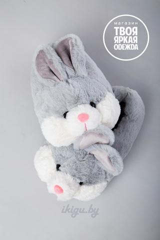"""Тапочки """"Кролики Серые"""""""