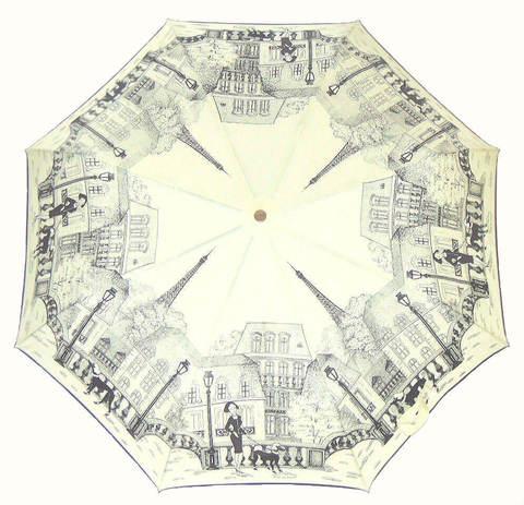 Купить онлайн Зонт складной Guy de Jean 3405-4 Boulevards de Paris в магазине Зонтофф.