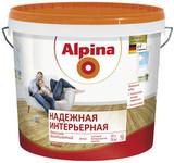 Краска высокоукрывистая, матовая Alpina Надежная Интерьерная Mattlatex(10л)