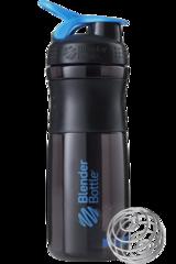 BlenderBottle SportMixer, Универсальная Спортивная бутылка-шейкер с венчиком.  Black-Cyan-черный-бирюзовый 828 мл cat