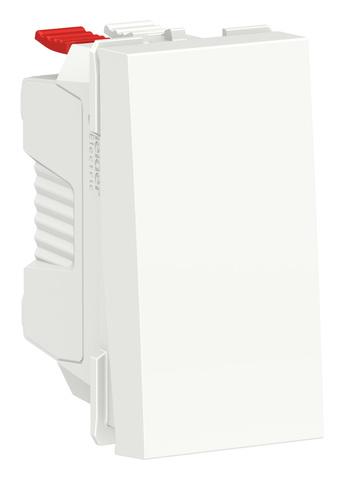 Выключатель одноклавишный. 1 модуль. Цвет Белый. Schneider Electric. Unica Modular. NU310118