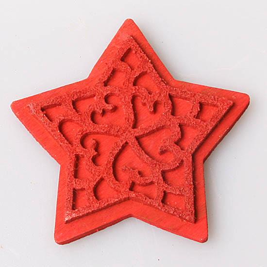 Стикер звезда красная 1 шт., 1032