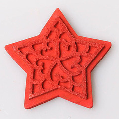 Войлок звезда красная 1 шт.,арт. 1032