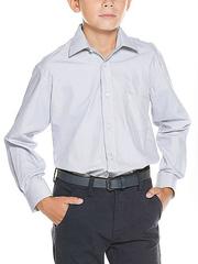 873-8 рубашка для мальчиков, светло-серая