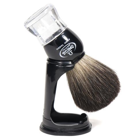 Помазок для бритья Omega Натуральный черный барсук на подставке 63167