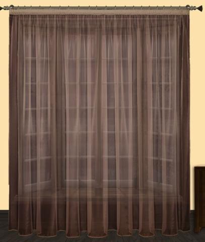 Тюль Престиж коричневый шириной от 3 до 9 метров