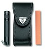 Чехол Victorinox для 91мм толщина 2-4 ур с отд для бруска и фонаря кожа черный (4.0520.32) чехол victorinox 4 0520 31 кожаный с застежкой velkro для ножей 91мм 2 4 уровня черный