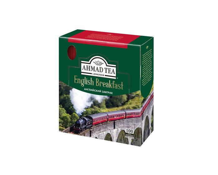 Чай черный в пакетиках из фольги Ahmad Tea English Breakfast, 100 пак/уп (Ахмад)