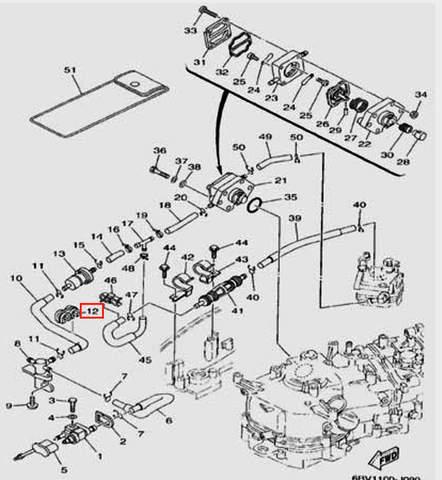 Держатель шланга для лодочного мотора F5 Sea-PRO(9-12)