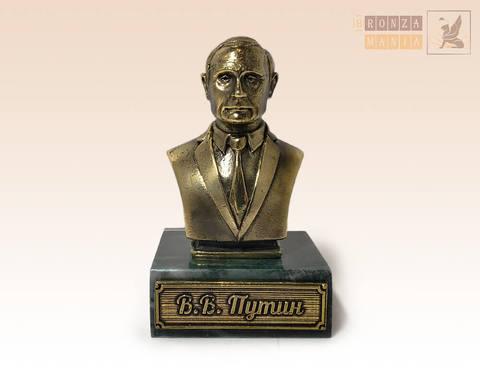 фигурка бюст Путин В.В. на змеевике
