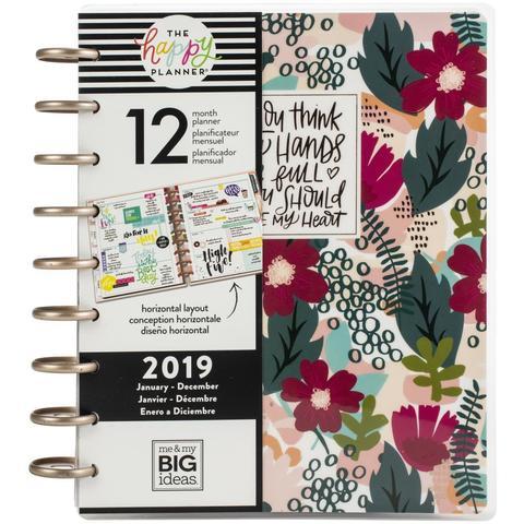 Ежедневник 2019 Classic Happy Planner®-  19,5х24,5см- Forget Me Know (горизонтальная сетка)