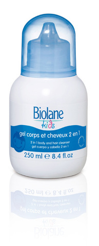 Biolane Гель 2 в 1 с 3-х лет, Body and Hair Cleaner 2 in 1– 250ml