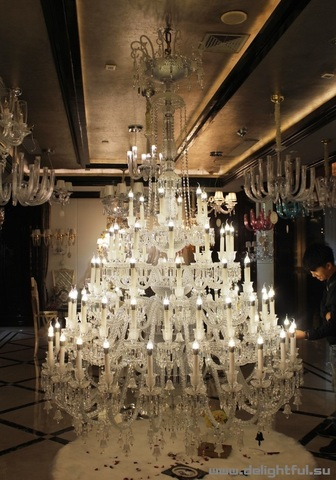 replica BACCARAT ZÉNITH CHANDELIER ( 124 lights + clear )