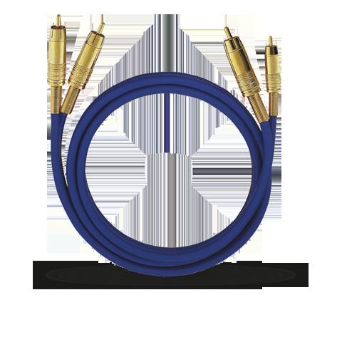 Oehlbach NF 1 Master RCA blue 10.00m, кабель межблочный