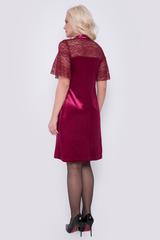 Роскошное платье из бархата и чудесного кружева. Смотрится идеально. Кружевные клешеные рукава притягивают взгляд окружающих! Длина платья 98см.