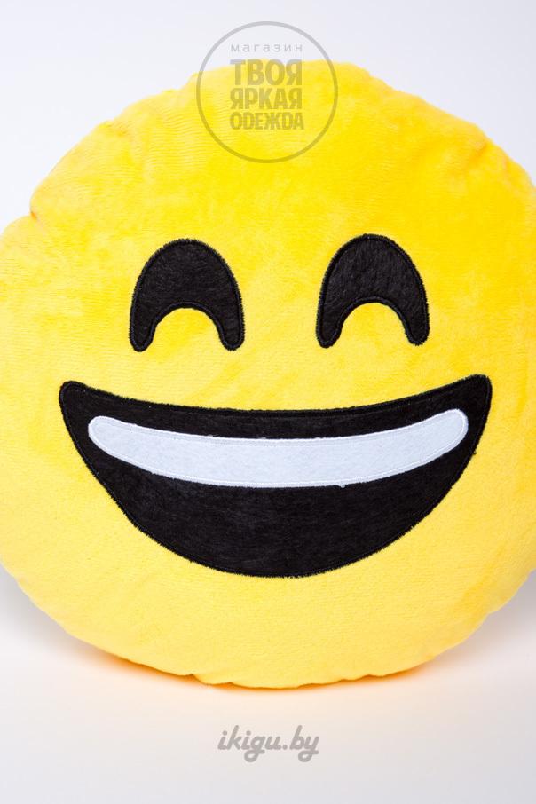 """Мягкие игрушки и подушки Подушка Эмоджи """"Радостный"""" радостный.jpg"""