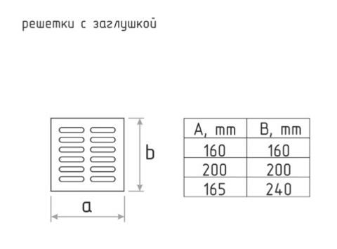 Решетка с заслонкой (заглушкой) 160х160 мм Старая Бронза