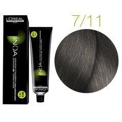 L'Oreal Professionnel INOA 7.11 (Блондин пепельный интенсивный) - Краска для седых волос