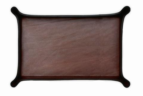Лоток А4 фигурный BUVARDO LUX из кожи Full Grain Bologna Brown