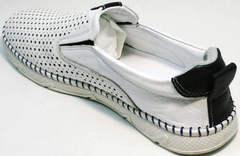 Летние слипоны мужские туфли casual Ridge Z-441 White Black.