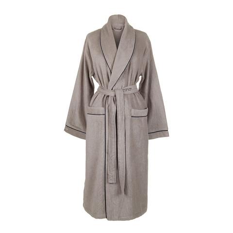 Элитный халат кашемировый Qashmare contrast дымчатый от Hamam