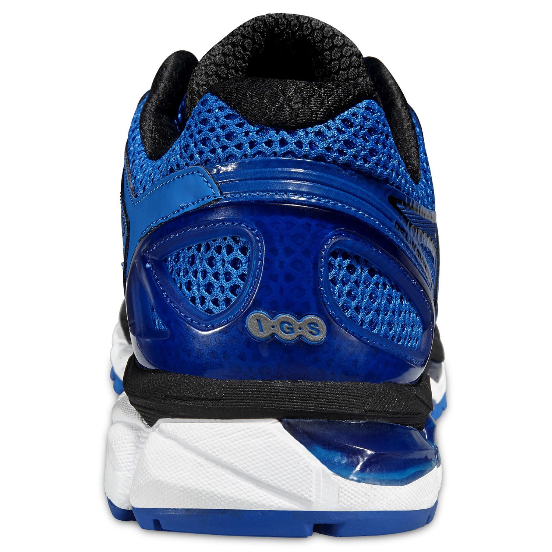 Мужские беговые кроссовки Asics Gel-Kayano 21 Lite-Show (T4N0Q 4747) синие фото пятка