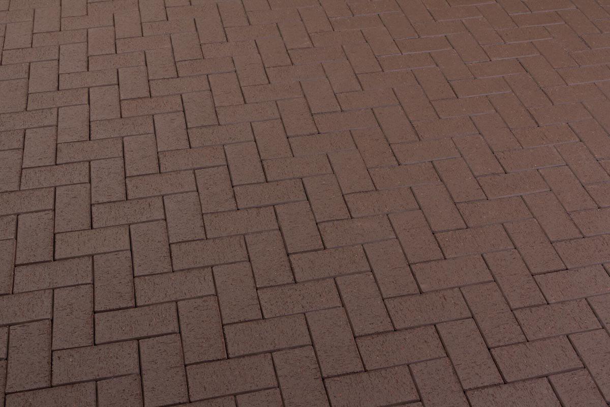 Feldhaus Klinker - P502KF, Umbra plano, темно-коричневый, с оттенками, 200x100x45 - Клинкерная тротуарная брусчатка