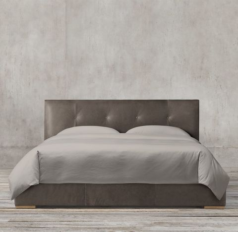 Tompkins Panel Box-Tufted Leather Bed