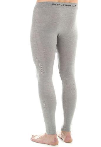 Теплое термобелье для мужчин Брубек Комфорт серое с шерстью мериносов