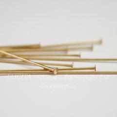 Пины-гвоздики TierraCast 51х0,7 мм (цвет-латунь), 10 штук
