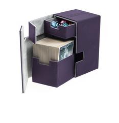 Ultimate Guard - Кожаная фиолетовая коробочка с отделением для кубиков на 100+ карт