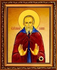 Пимен Великий Преподобный. Икона на холсте.