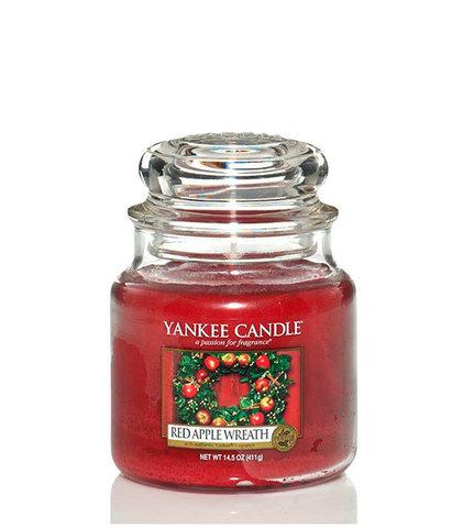 Ароматическая свеча Венок из красных яблок, Yankee Candle