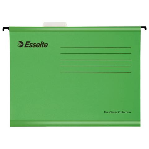 Подвесная регистратура папка Esselte Standart,205 гр,А4,зеленый 90318 25 шт