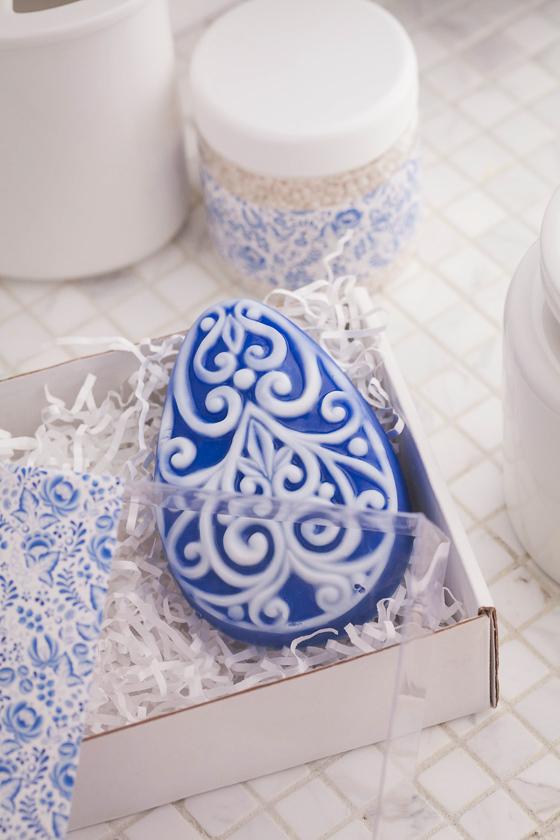 Мыло Яйцо с орнаментом. Пластиковая форма