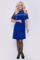 Роскошное платье из бархата и чудесного кружева. Смотрится идеально. Кружевные клешеные рукава притягивают взгляд окружающих! Длина платья 98см