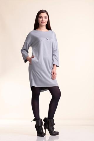 Платье 10097 серый