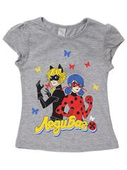 D002-17 футболка для девочек, серая
