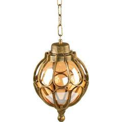 Светильник садово-парковый, 60W 230V E27 черное золото, на цепочке, IP44, PL3705 (Feron)
