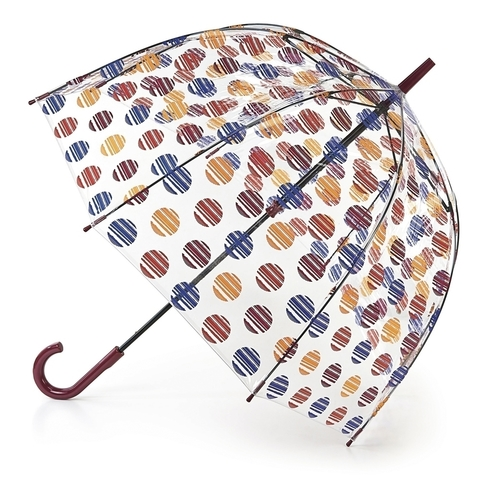 Fulton Brush Spot прозрачный зонт-трость