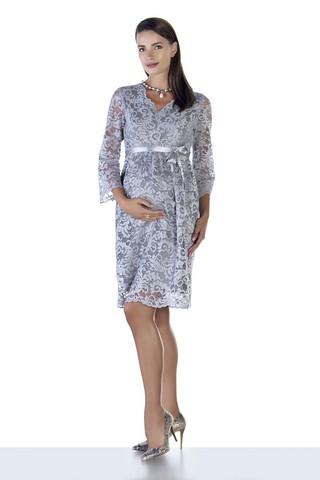 Платье 09028 серый