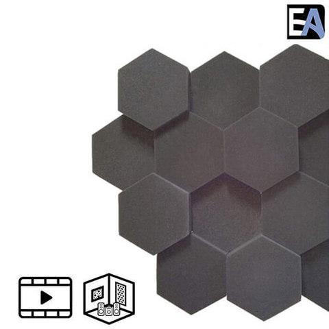 ECHO BLACK Акустический поролон Hexagon Чёрный