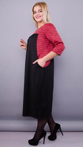 Роксолана. Платье для женщин size plus. Красный.