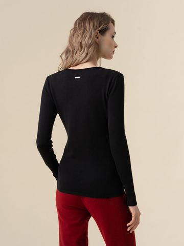 Женский джемпер черного цвета из 100% кашемира - фото 2