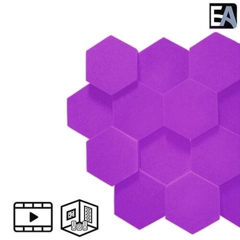 ECHO BLACK Акустический поролон Hexagon Фиолетовый