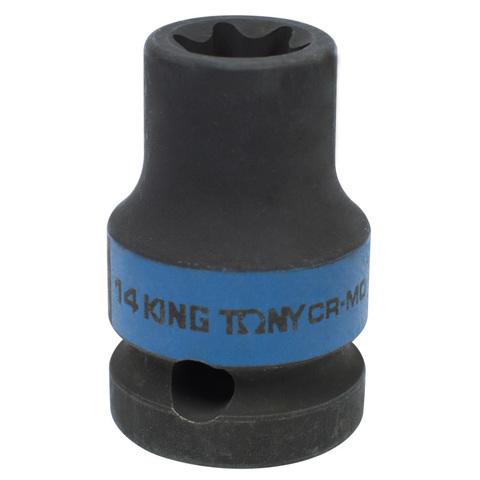 KING TONY (457514M) Головка торцевая ударная TORX Е-стандарт 1/2