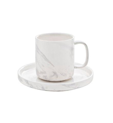 Чашка и блюдце Roomers Marble Grey