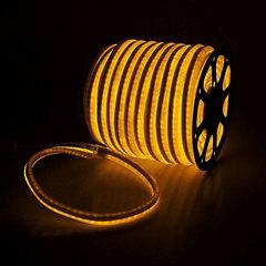Гибкий неон 15*25 мм, светодиодный | Желтый - 25м
