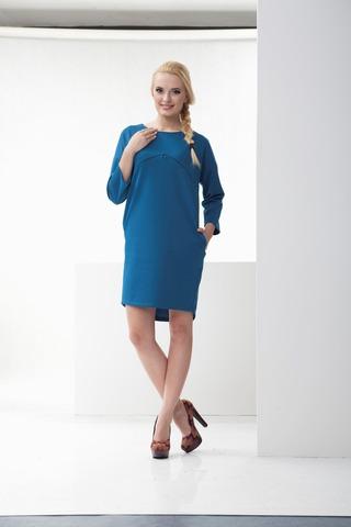 Платье 10097 голубой